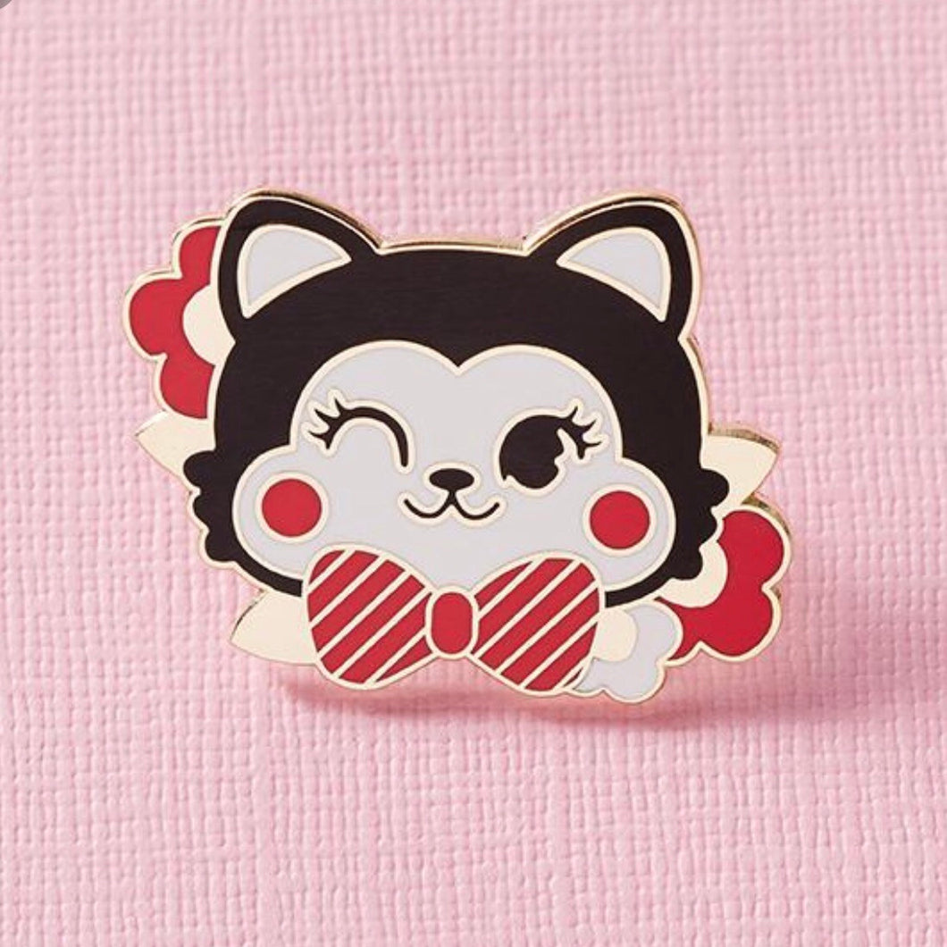 Retro cuties kitty pin