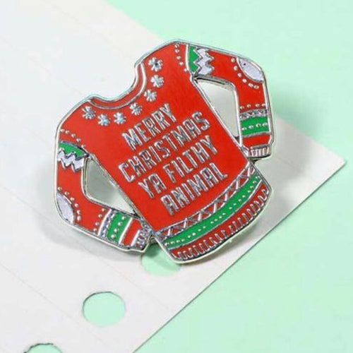 Christmas jumper pin