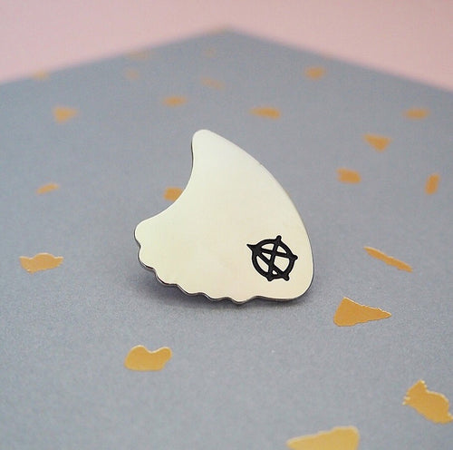 Plectrum Pin Badge - all profits donated to MIND