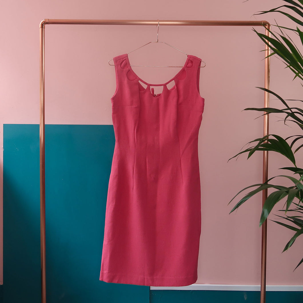 Pink 60's Scallop Dress