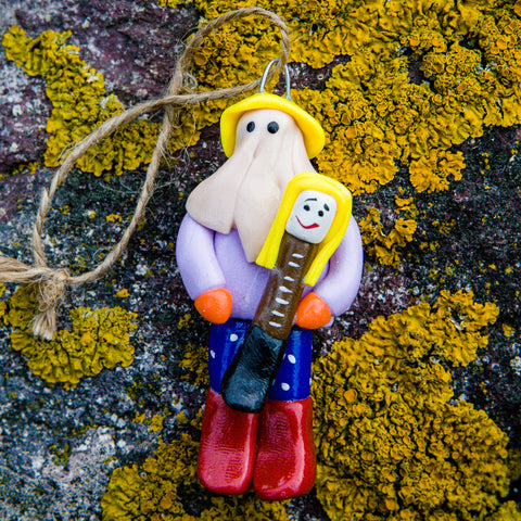 Handcrafted Mummer Ornaments