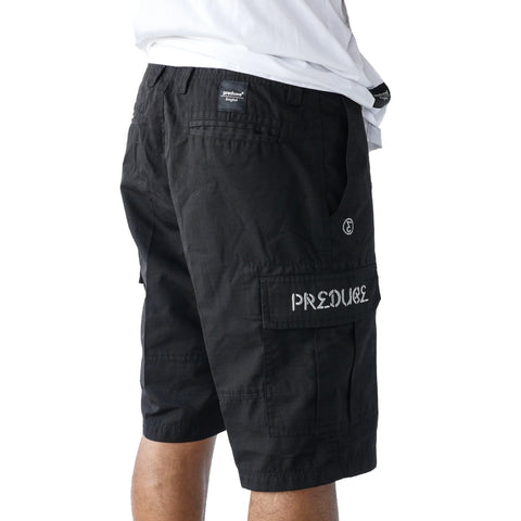 Preduce black cargo shorts