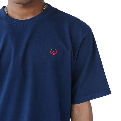 Preduce super soft tee embroidered logo navy/red
