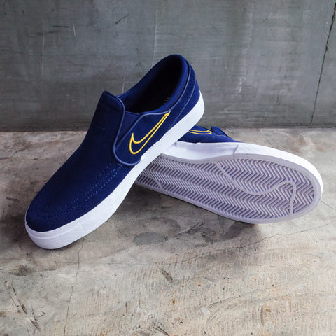 Nike SB Zoom Stefan Janoski Slip On Blue Void/Yellow Ochre