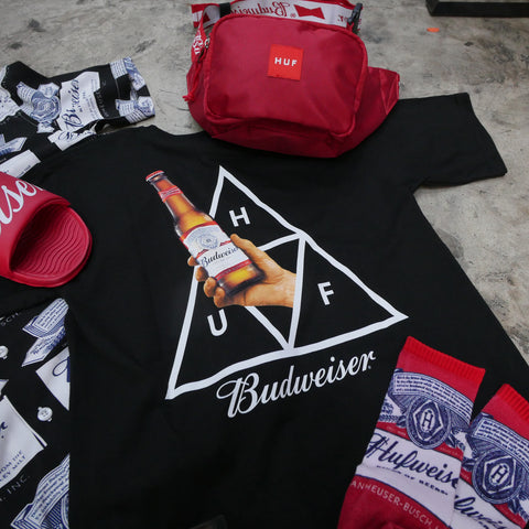 HUF x Budweiser shirts and more