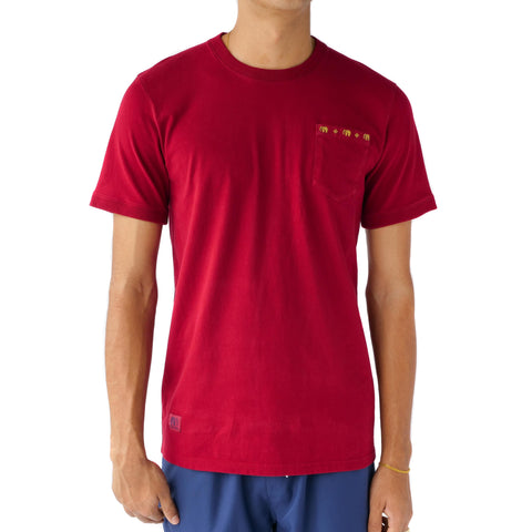 Preduce Thai Pillow Pocket T-Shirt Maroon