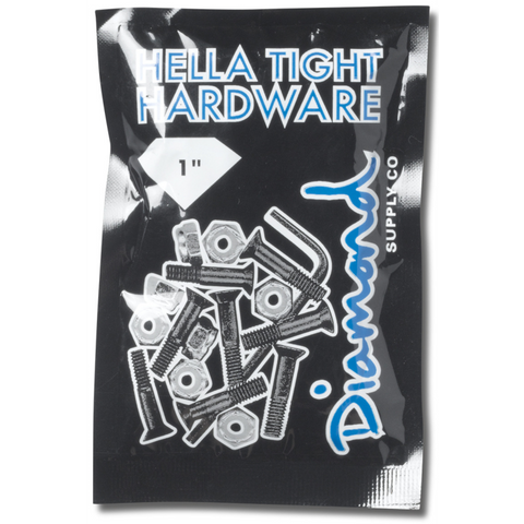 "Diamond Hella Tight Hardware 1"" Silver"