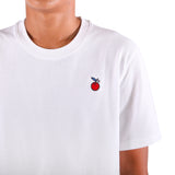 Preduce X Cher Embroidered Cherry Cotton Pique T-Shirt White