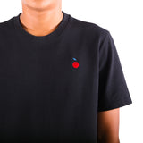 Preduce X Cher Embroidered Cherry Cotton Pique T-Shirt Black