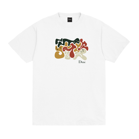 Dime Laying T-Shirt White