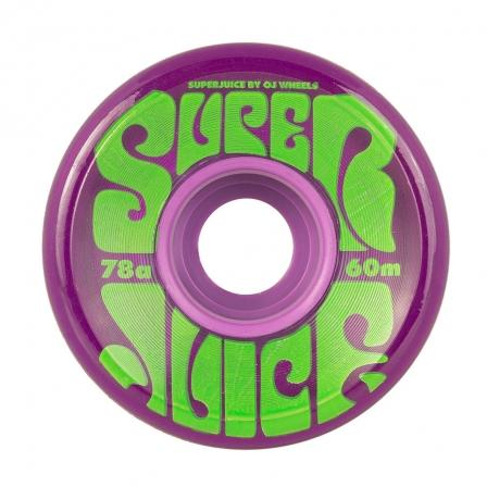 OJ Super Juice Transparent Purple 78a Skateboard Wheels 60mm