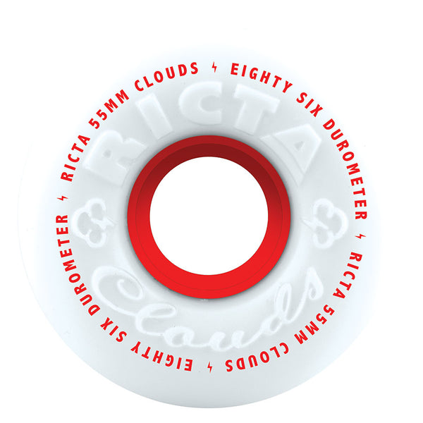 Ricta Clouds Red 86a Skateboard Wheels 55mm