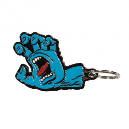 Santa Cruz Screaming Hand Key Chain Blue