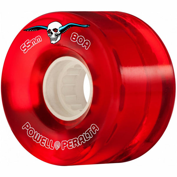 Powell Peralta Clear Cruiser 80A Red Skateboard Wheels 55mm