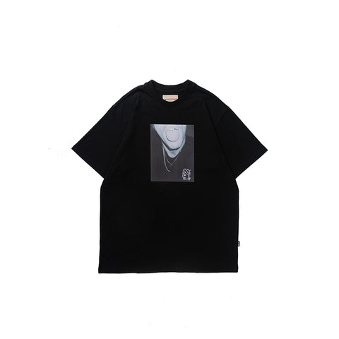 Victoria Trippy T-Shirt Black/Photo Print