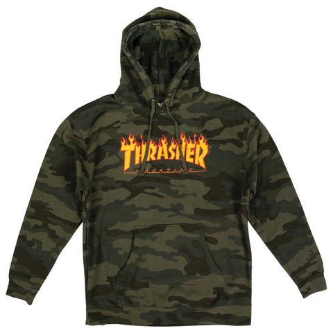Thrasher Flame Hood Forest Camo