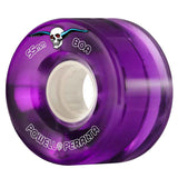 Powell Peralta Clear Cruiser 80A Purple Skateboard Wheels 55mm