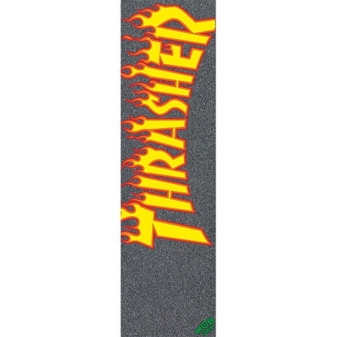 "Mob Thrasher Yellow and Orange Flame Grip Tape 9"" x 33"""