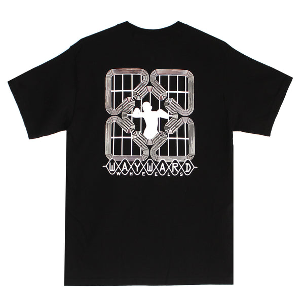 Wayward Grid Lock Premium T-Shirt Black