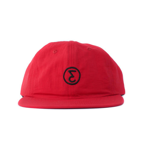 Preduce 6 Panel E Unstructured Hats Cotton Nylon Crimson/Black