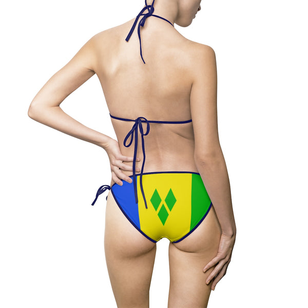 Saint Vincent & The Grenadines Bikini Swimsuit (Full Set) - Live Love Soca Clothing & Accessories