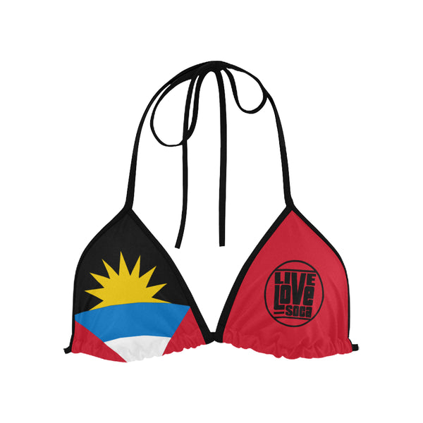 Antigua & Barbuda Bikini Swimsuit (Top) - Live Love Soca Clothing & Accessories