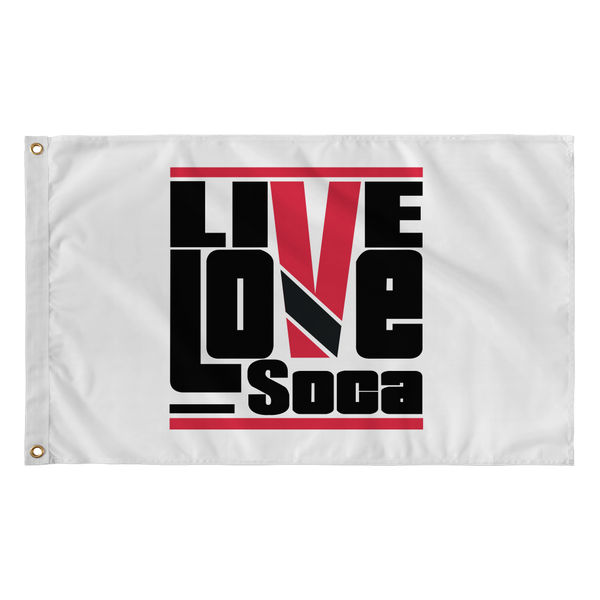 TRINIDAD & TOBAGO FLAG (WHITE) - Live Love Soca Clothing & Accessories