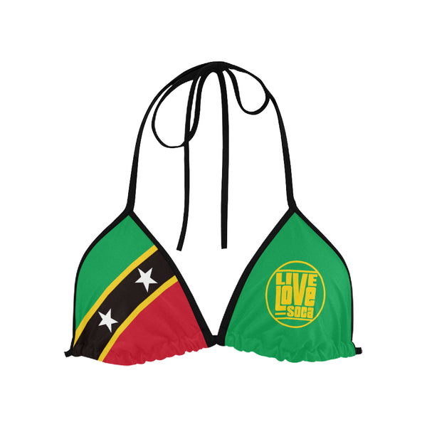 Saint Kitts & Nevis Bikini Swimsuit (Top) - Live Love Soca Clothing & Accessories