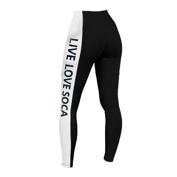 Energy Active Black-White Leggings