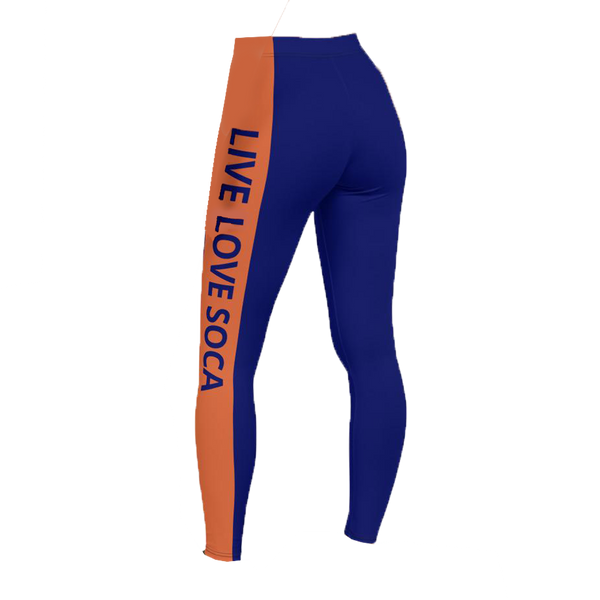 Energy Active Orange -Blue Leggings