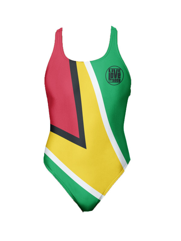 Guyana One-Piece Swimsuit - Live Love Soca Clothing & Accessories