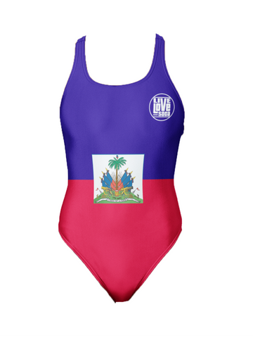 Haiti One-Piece Swimsuit - Live Love Soca Clothing & Accessories