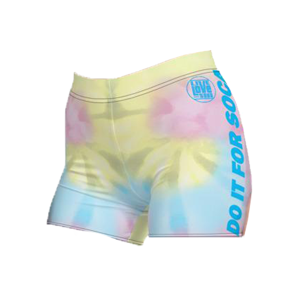 Endless Summer 20 DIFS - J'ouv Tie Dye Womens Active Shorts