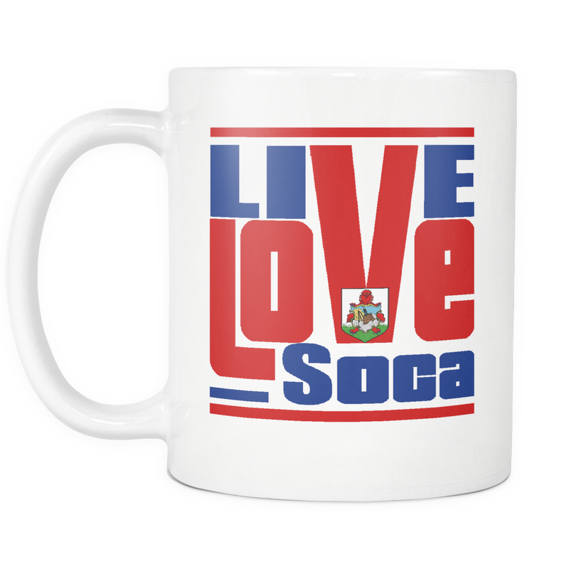BERMUDA WHIITE MUG - Live Love Soca Clothing & Accessories