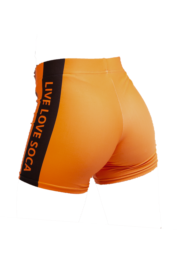 Neon Active Orange Shorts - Live Love Soca Clothing & Accessories