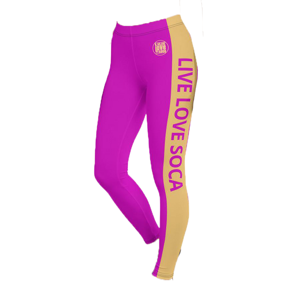 Energy Active Purple-Peach Leggings
