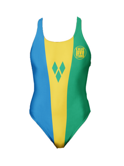 St. Vincent One-Piece Swimsuit - Live Love Soca Clothing & Accessories