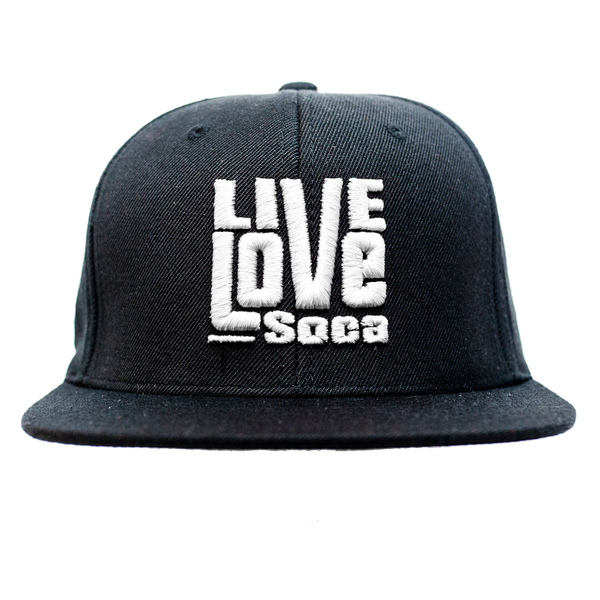 Snapback Hat - White - Live Love Soca Clothing & Accessories