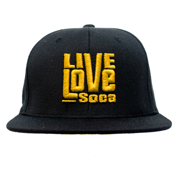 Snapback Hat - Yellow - Live Love Soca Clothing & Accessories