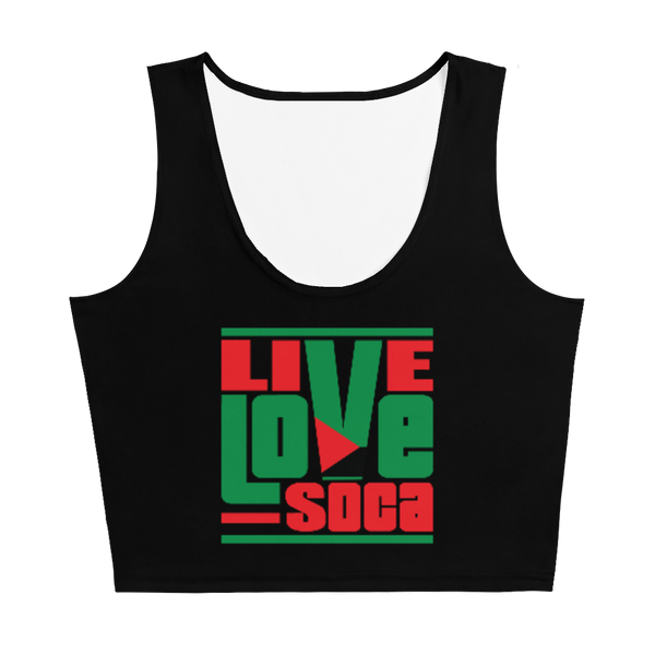 Martinique Islands Edition Black Crop Tank Top - Fitted