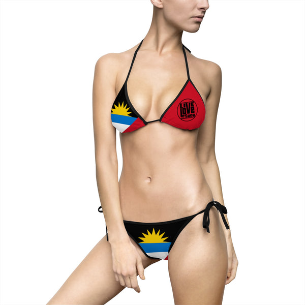 Antigua & Barbuda Bikini Swimsuit (Full Set) - Live Love Soca Clothing & Accessories