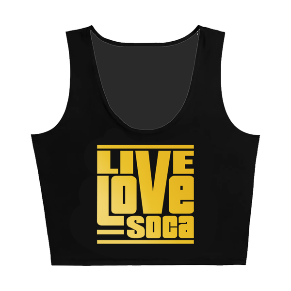 Gold Edition Black Crop Tank Top - Fitted - Live Love Soca Clothing & Accessories