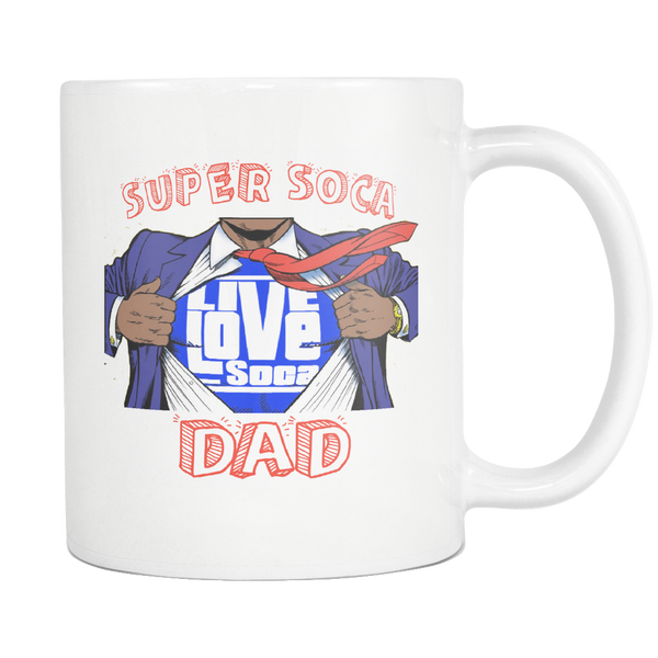 SUPER SOCA DAD MUG (Designed By Live love Soca) - Live Love Soca Clothing & Accessories