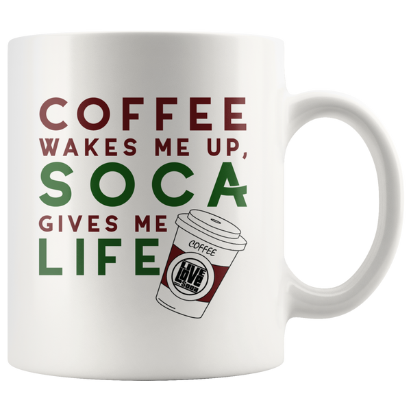 COFFEE & SOCA MUG (Designed By Live Love Soca) - Live Love Soca Clothing & Accessories