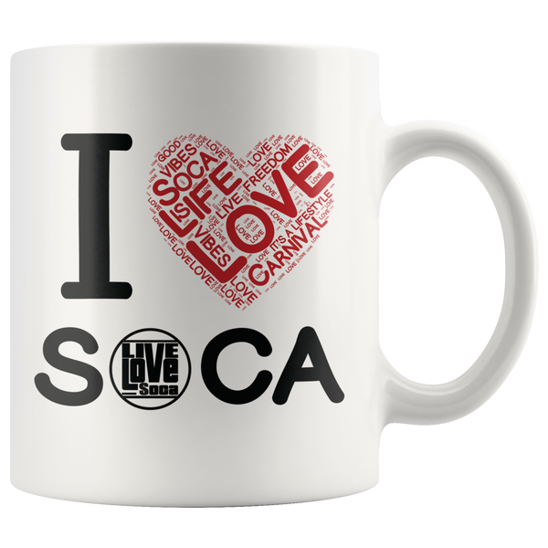 I LOVE SOCA MUG (Designed By Live Love Soca) - Live Love Soca Clothing & Accessories