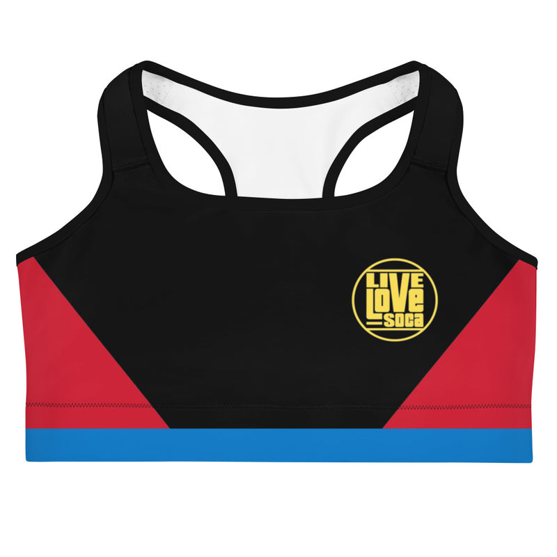 Island Active Antigua & Barbuda Sports Bra - Live Love Soca Clothing & Accessories
