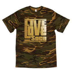 Army Mens - Gold Print - Regular Fit - Live Love Soca Clothing & Accessories