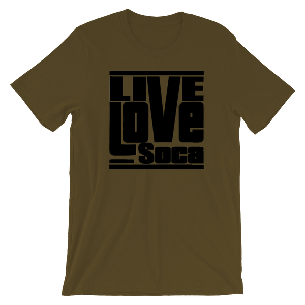 Black Khaki Army Mens T-Shirt  - Regular Fit - Live Love Soca Clothing & Accessories