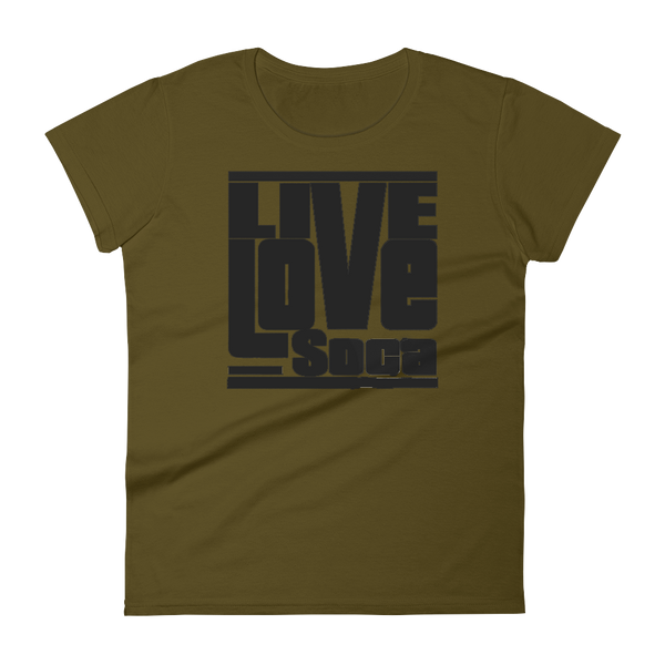 Black Khaki Army Womens T-Shirt - Live Love Soca Clothing & Accessories