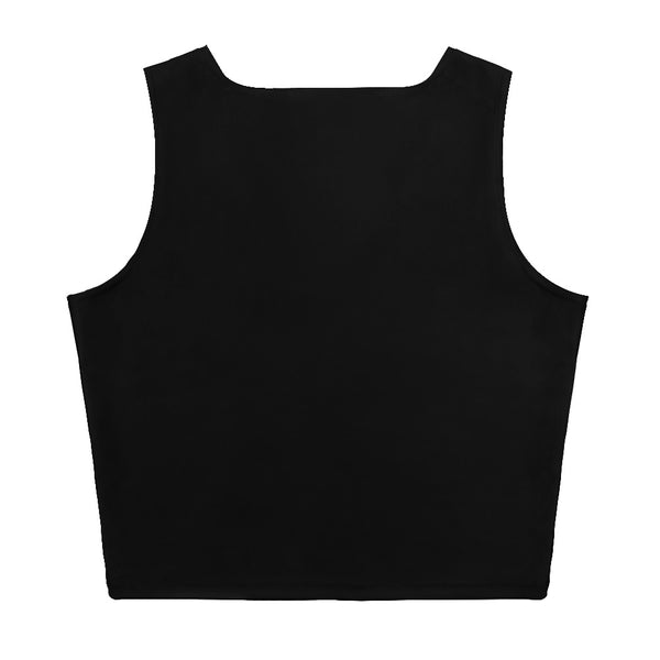 Antigua Islands Edition Womens Black Crop Tank Top- Fitted
